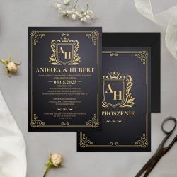 ZAPROSZENIE ślubne personalizowane Eleganckie