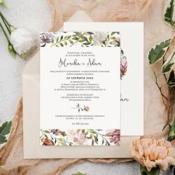 ZAPROSZENIE ślubne personalizowane Dziki Ogród