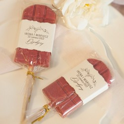 LIZAK tabliczka czekolady upominek dla gości Romantyczny Ślub