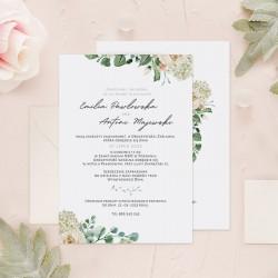 ZAPROSZENIE ślubne personalizowane Inicjały w Różach