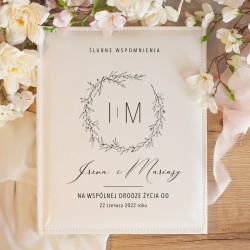 ALBUM ślubny na zdjęcia prezent dla Pary Młodej Romantyczny Ślub