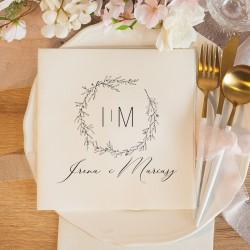 SERWETKA personalizowana dekoracja stołu 40x40cm Romantyczny Ślub