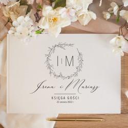 KSIĘGA GOŚCI weselnych Romantyczny Ślub BIAŁE/CZARNE KARTKI