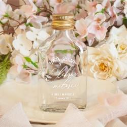 BUTELECZKA na alkohol dla gości Romantyczny Ślub