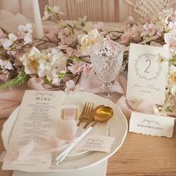 ŚWIECZKA w szklanym opakowaniu dla gości weselnych Romantyczny Ślub