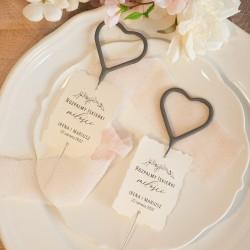 ZIMNE OGNIE W KSZTAŁCIE ♥ 4szt Iskierki Miłości Romantyczny Ślub