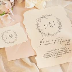 ZAPROSZENIE ślubne personalizowane Romantyczny Ślub