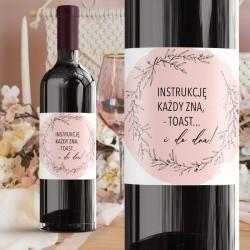 NAKLEJKI na alkohol Romantyczny Ślub RÓŻNE NAPISY 20szt