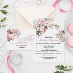 ZAPROSZENIE ślubne personalizowane Pink