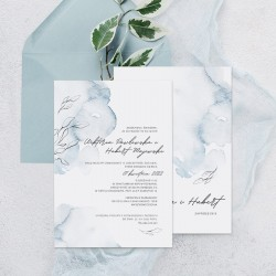 ZAPROSZENIE ślubne personalizowane Wodny Miraż