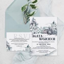 ZAPROSZENIE ślubne personalizowane Zimowe