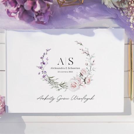 Księga gości z ankietami na wesele. Świetna atrakcja dla gości weselnych.