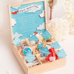 Niezbędnik dla Młodej Pary w drewnianym pudełku z 9 przegródkami