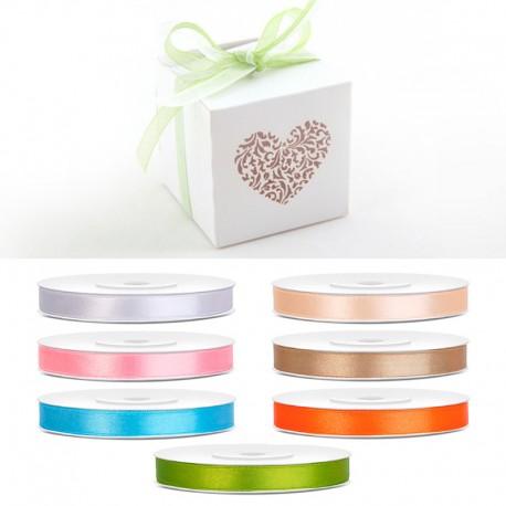 Kolorowe wstążki szyfonowe cienkie - dekoracje do pudełeczek.
