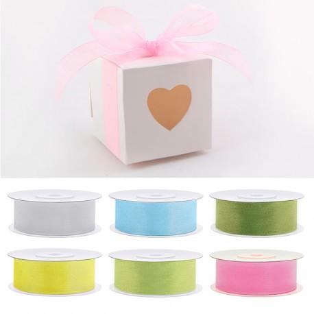 Tasiemka do dekoracji pudełeczek na podziękowania ślubne dla gości. Kolory do wyboru.