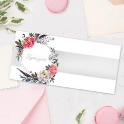 ZAPROSZENIE ślubne kartka z kalendarza ze zdjęciem Wianek i Piórka