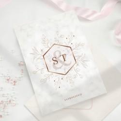 ZAPROSZENIE ślubne personalizowane Geometryczne