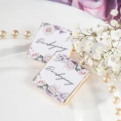 Czekoladka na słodki upominek dla gości weselnych. Wzbogacona o etykietkę z kolekcji LiMarte.