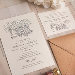 ZAPROSZENIE ślubne personalizowane Romantyczny Dworek
