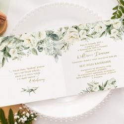 ZAPROSZENIA ślubne personalizowane Białe Kwiaty