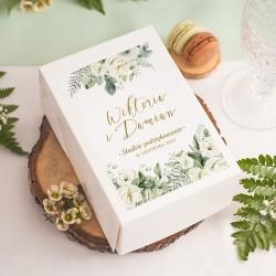 PUDEŁKA na ciasto z IMIONAMI Białe Kwiaty 10szt