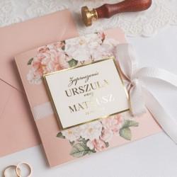 ZAPROSZENIE ślubne personalizowane Flowers & Luxury