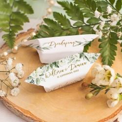 KRÓWKA personalizowana Białe Kwiaty