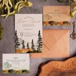 ZAPROSZENIE ślubne personalizowane Górski Krajobraz