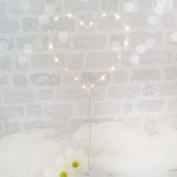 SERCE LED Dekoracja Świetlna na Stojaku