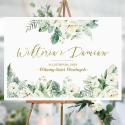 PLAKAT personalizowany Białe Kwiaty WYBIERZ ROZMIAR
