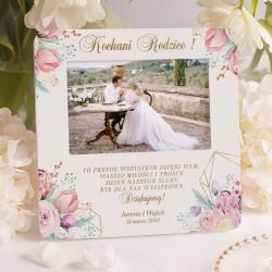 RAMKA na zdjęcie ślubne pamiątka dla rodziców od Pary Młodej