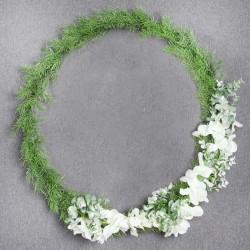 WIANEK zielony ze storczykami 60cm