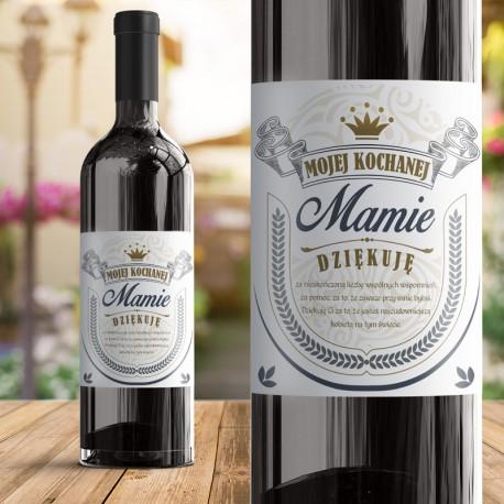 ETYKIETA na wino ślubne podziękowanie dla MAMY