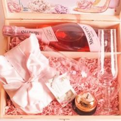 SKRZYNKA prezent na wieczór panieński Pink Prosecco