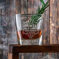 SZKLANKA do Whisky Podziękowanie dla Świadka