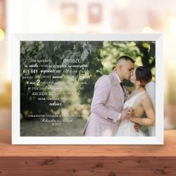 PLAKAT ze zdjęciem i życzeniami na Rocznicę Ślubu