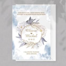 Kartka okolicznościowa na ślub dla Pary Młodej, z personalizowaną okładką.