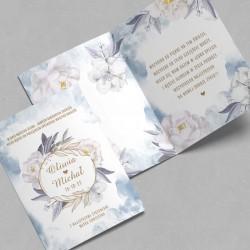 KARTKA na ślub dla Nowożeńców Coś Niebieskiego