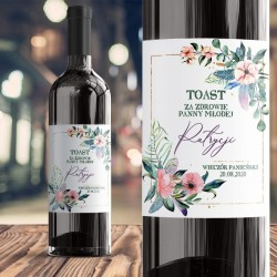 ETYKIETA na Wino personalizowana EUKALIPTUS na Wieczór Panieński