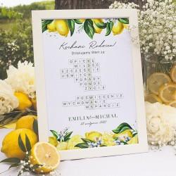 PREZENT dla rodziców krzyżówka Kochamy Was - Słoneczna Cytryna
