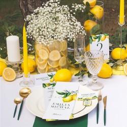 BUTELECZKA exclusive zdobiona na alkohol dla gości Słoneczna Cytryna