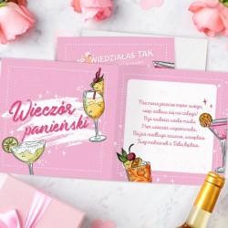 KARTKA z życzeniami na Wieczór Panieński Koktajl Party