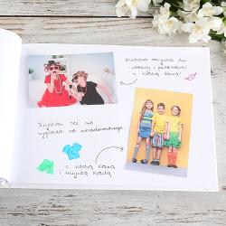 KSIĘGA Wspomnień dla Rodziców Wild Flowers BIAŁE/CZARNE KARTKI
