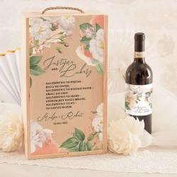 SKRZYNIA na 2 wina dla Rodziców Vintage Lace