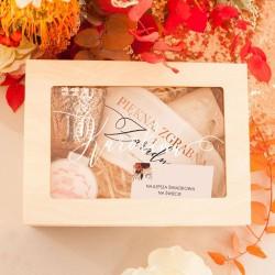 SKRZYNKA z Szybką Podziękowanie dla Świadkowej Barwy Jesieni ZESTAW UPOMINKÓW