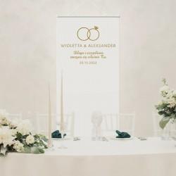 Dekoracja sali weselnej KAKEMONO Kolekcja Obrączki