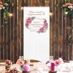 DEKORACJA na salę weselną KAKEMONO Sweet Peony