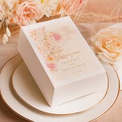 PUDEŁKA na ciasto personalizowane Aksamitne Złoto 10szt