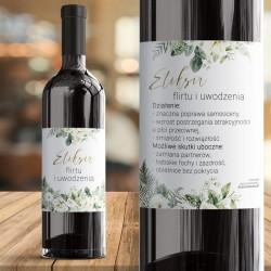 ETYKIETY na alkohol dwustronne Białe Kwiaty 18szt