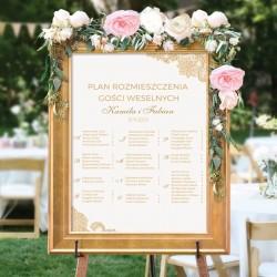 PLAN stołów personalizowany Złota Koronka